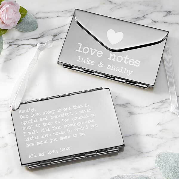 25th Anniversary Gifts by Year - Silver Envelope Keepsake