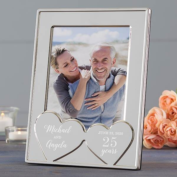 25th Anniversary Gifts by Year - Silver Picture Frame