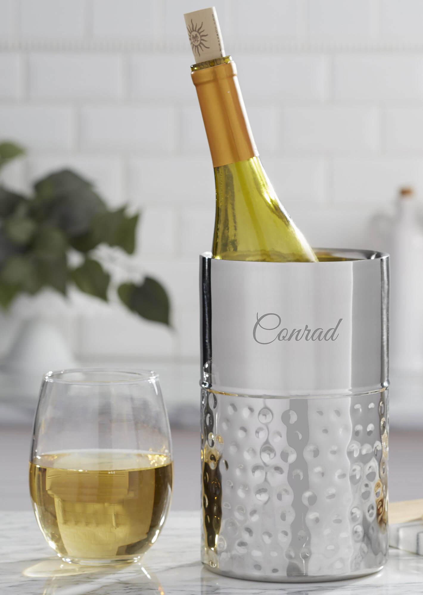 25th Anniversary Gift - Silver Wine Chiller