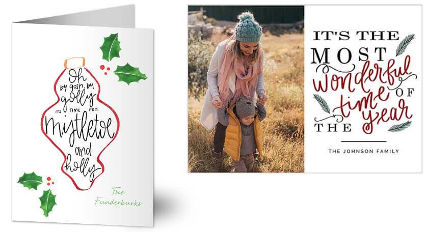 Christmas Cards with Song Lyrics