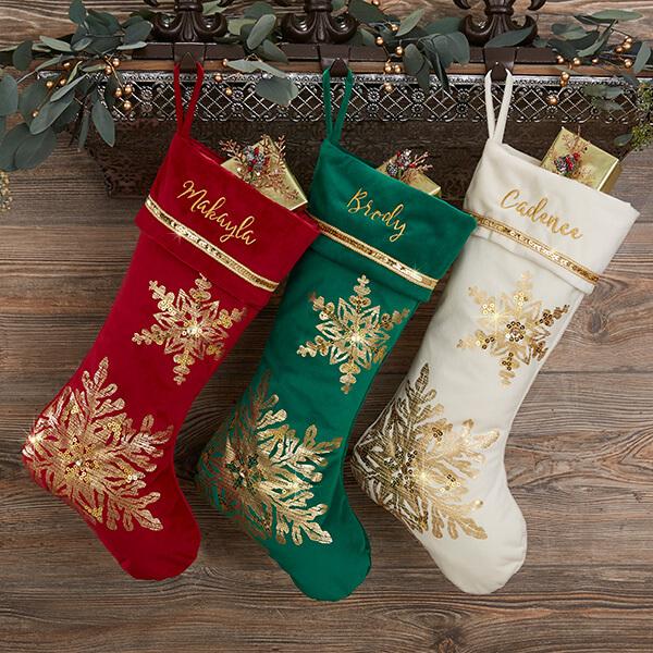 Elegant & Glam Christmas Stockings