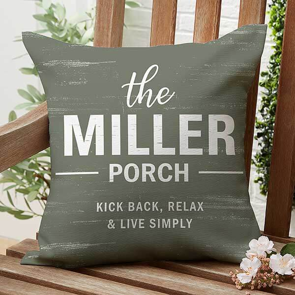 Farmhouse Family Outdoor Throw Pillow