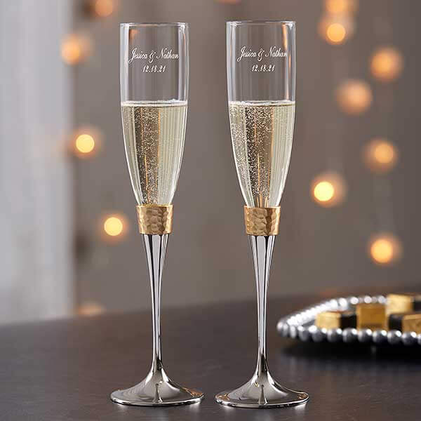 Gold Champagne Flutes