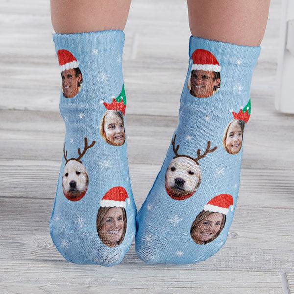 Holiday Photo Kids Christmas Socks