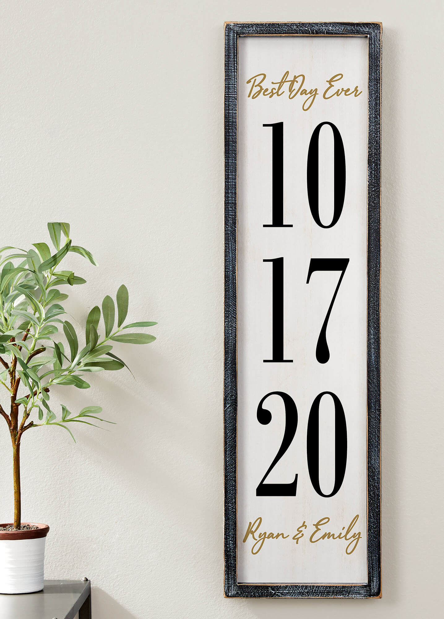 5th Anniversary Gift By Year - Wood Wall Art