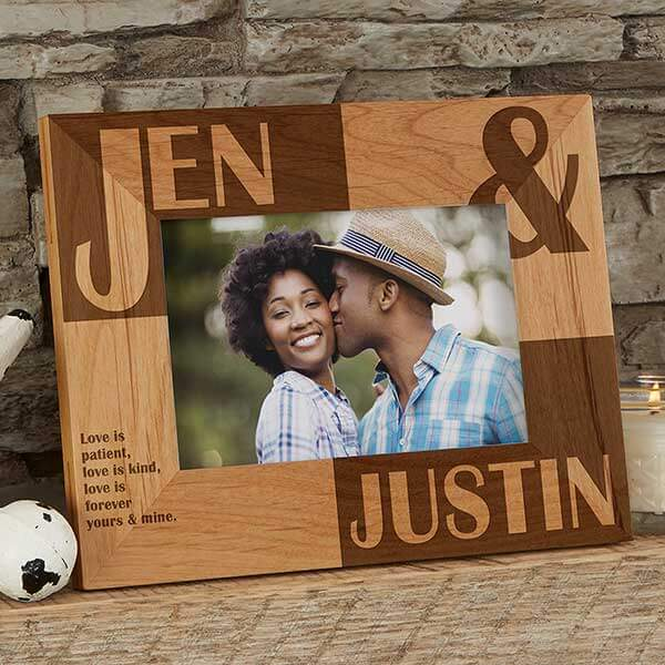 Couples Wood Picture Frame