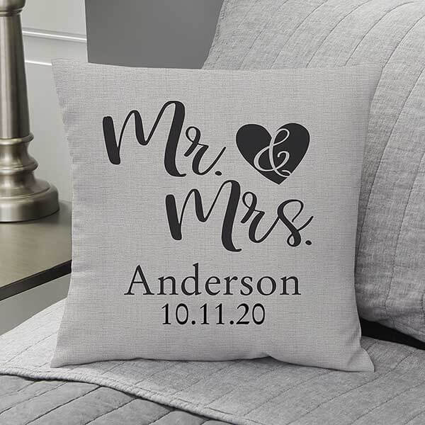 Engagement Gift Couples Throw Pillows