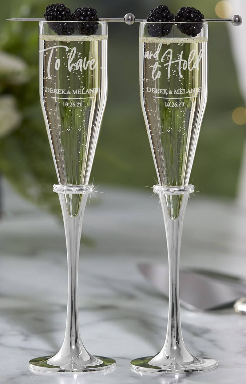 Couples Toasting Flutes