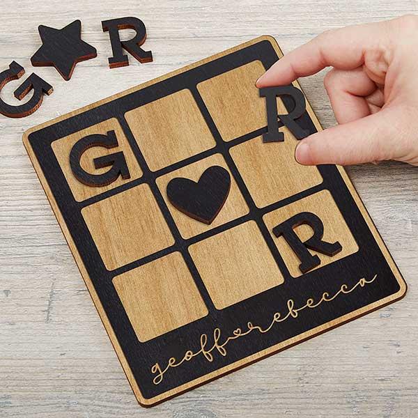 Custom-Romantic Tic-Tac-Toe Game
