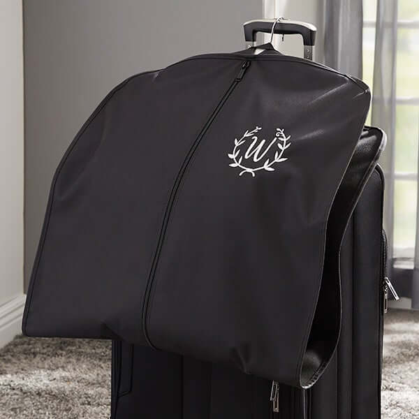 Embroidered Monogram Garment Bag