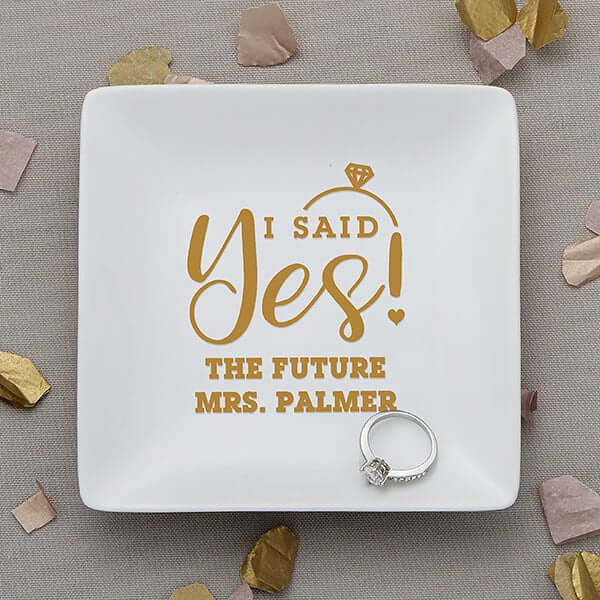 Engagement Gifts for Her: Ring Dish