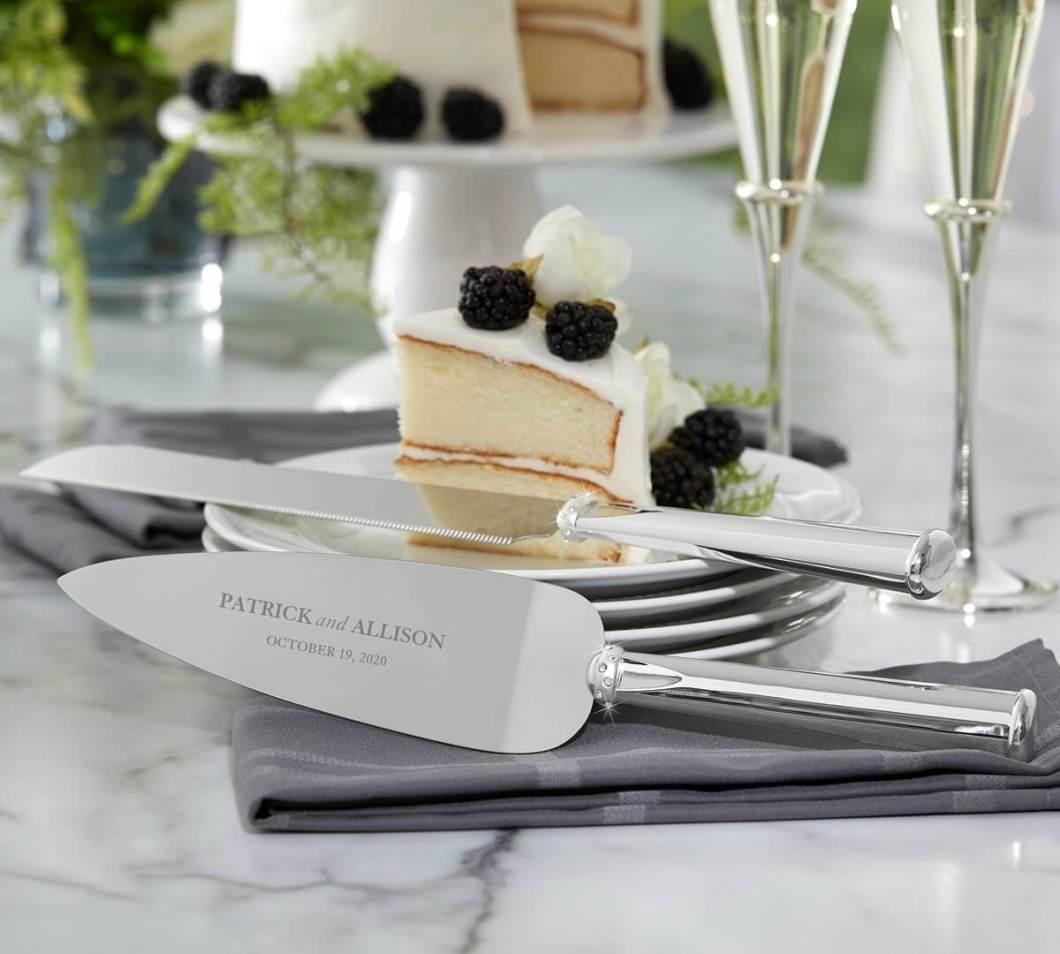 Engraved Lenox Cake Knife Set