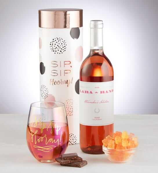 Wine & Glass Gift Set