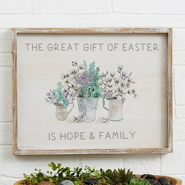 The Great Gift of Easter Custom Wall Art