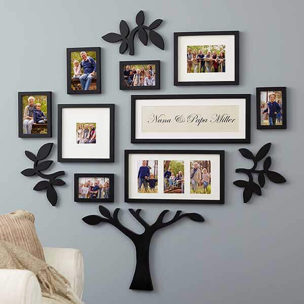 Photo Family Tree Gallery Wall For Grandma