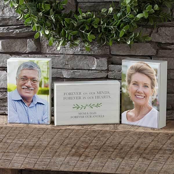 Botanical Photo Wedding Memorial Shelf Blocks