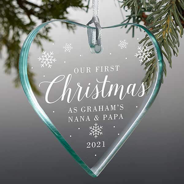 First Christmas as Grandparents Christmas Ornament