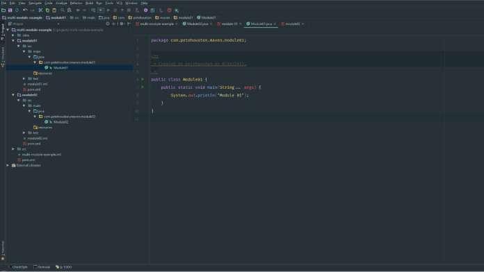 Config Java multi-module project in Maven