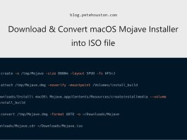 Download and convert MacOS Mojave installer into ISO file