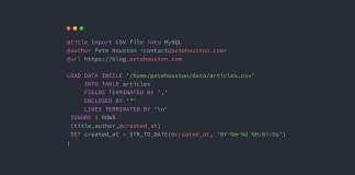 Import CSV file into MySQL