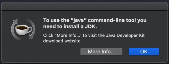 Check Java versions on fresh MacBook