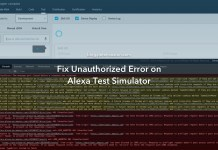 Fix Unauthorized Error on Alexa Test Simulator