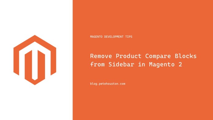 Remove Product Compare Blocks from Sidebar in Magento 2