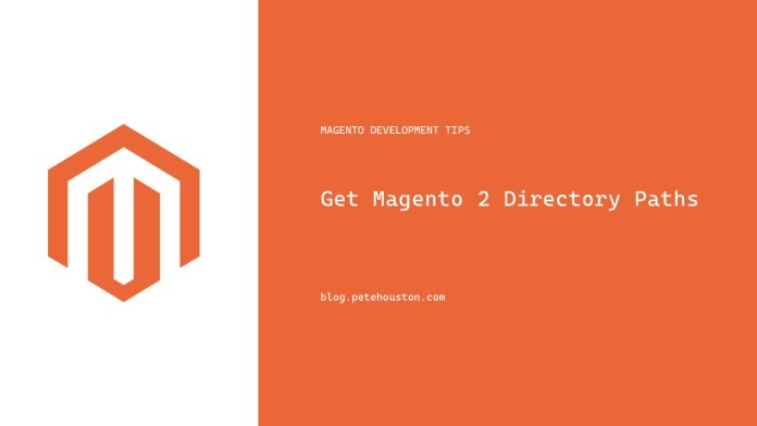 Get Magento 2 Directory Paths