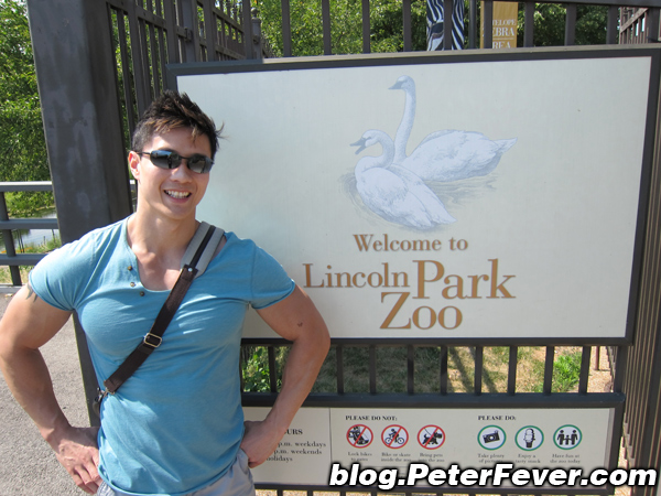 Peter Le at the Lincoln Zoo