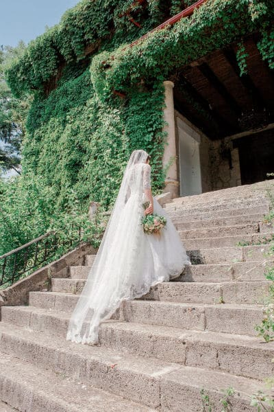 cathedral veil for petite brides