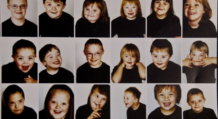 children with down syndrome smiling