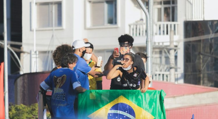 Protest against Brazil's President Jair Bolsonaro.