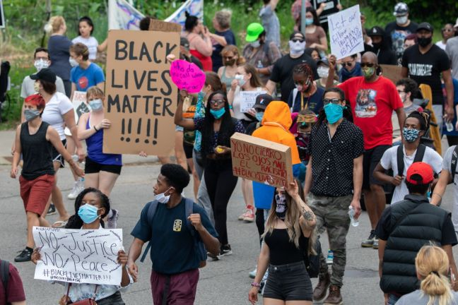 Minneapolis, MN / USA - May 26 2020: Black Lives Matter,