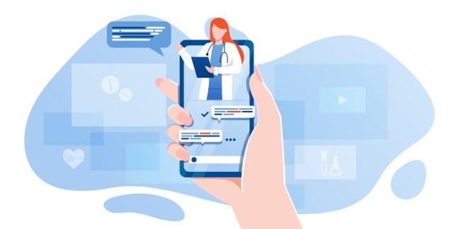 Vector illustration of health app.