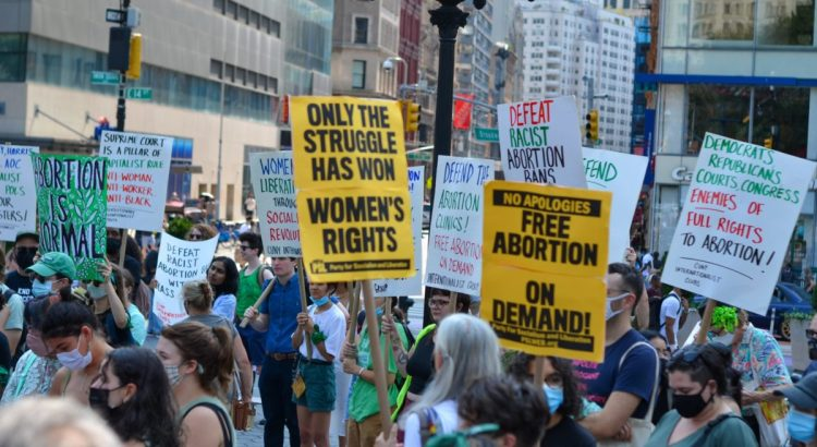 Activists and concerned residents of New York City gathered at Union Square to demand Free, Safe and Legal Abortion on Sept 12, 2021.