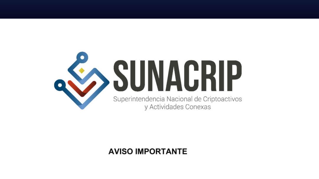 sunacrip actialización aviso mantenimiento 2 noviembre venezuela