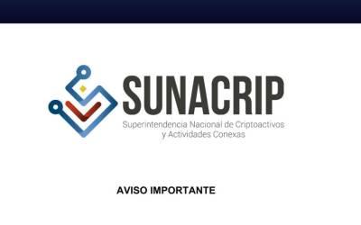 SUNACRIP anuncia actualización de su plataforma tecnológica