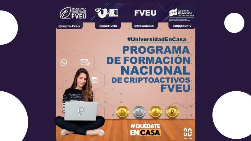 Programa de Formación Nacional de Criptoactivos FVEU