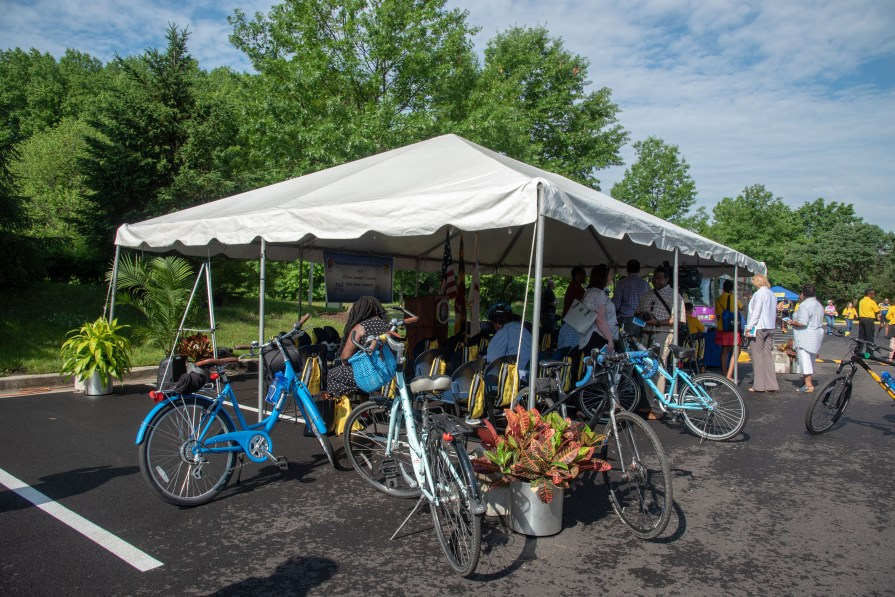 Tent at bikeshare event