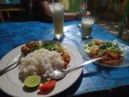 Abendessen in Warung Bamboo