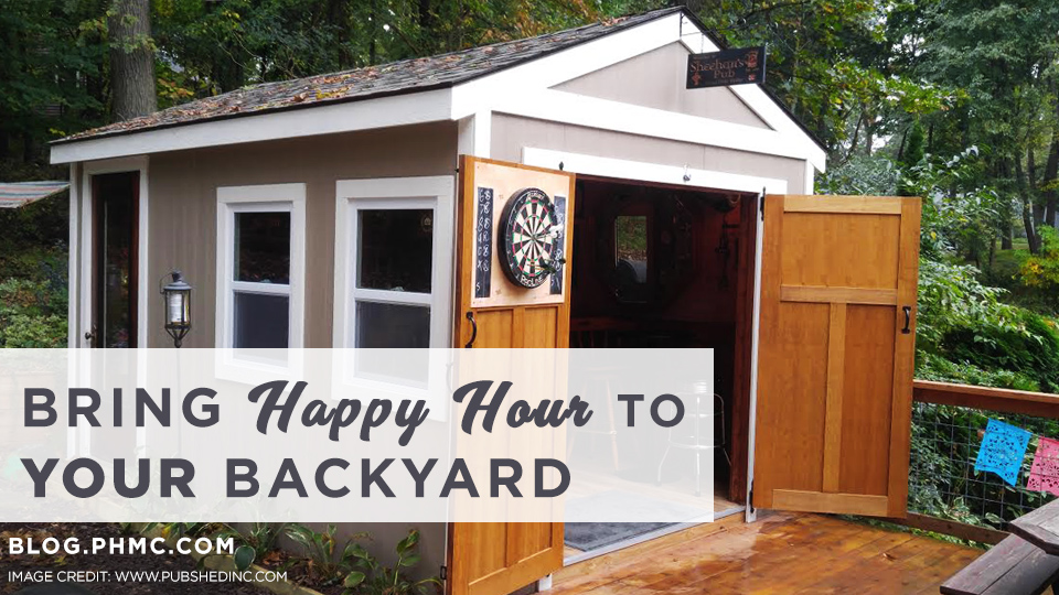 Pub Sheds Bring Happy Hour To YOUR Backyard Platinum