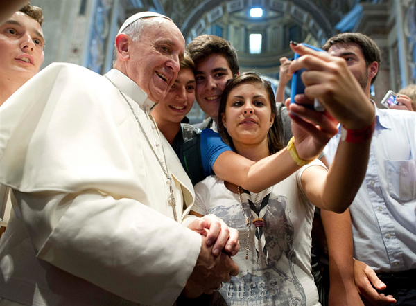 Photo by L'Osservatore Romano via Reuters