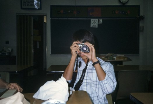 Me and my trusty Olympus OM-4 in 7th grade.