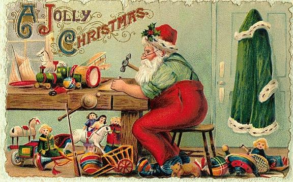 Giochi di una volta in 10 cartoline vintage sul Natale