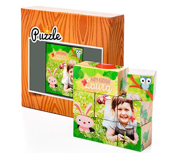 puzzle cubi in legno personalizzati