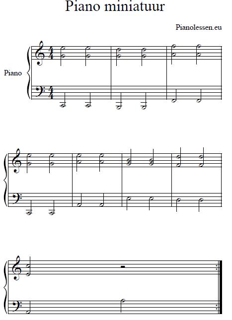 piano-miniatuur