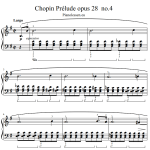 Chopin prelude op 28 no 4 bladmuziek PDF