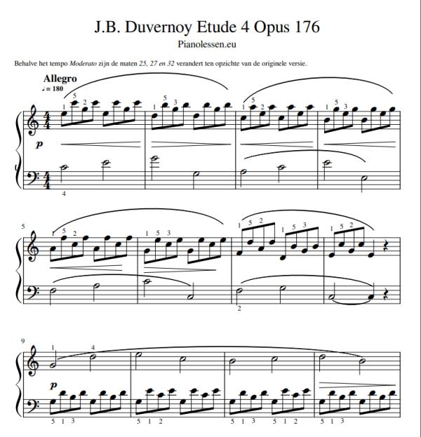 Duvernoy 4 Opus 176 PDF sheet