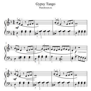 Gypsy Tango bladmuziek PDF piano