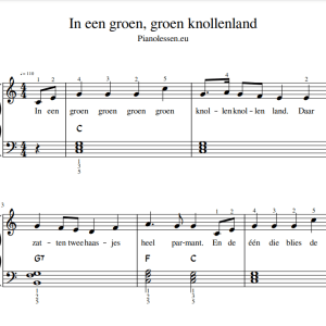 Groen knollenland Bladmuziek PDF